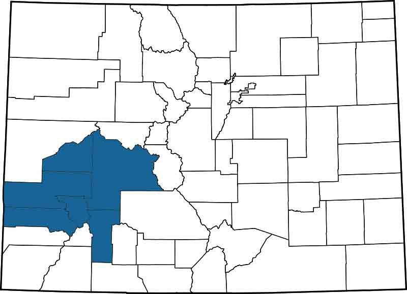 Find A Court In Colorado Colorado Judicial Districts Map